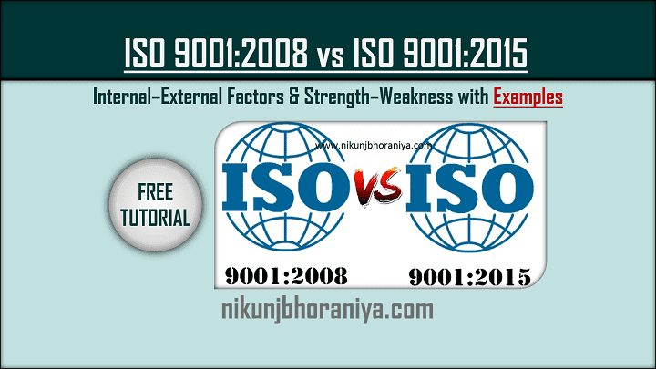 Difference between ISO 90012008 and ISO 90012015