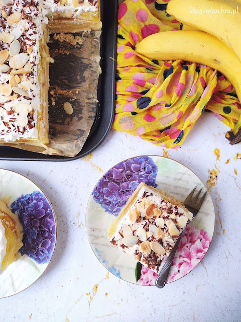 Ciasto bananowiec bez pieczenia przepis