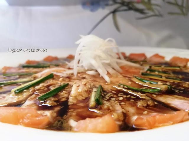 Sashimi De Salmón New Style - Nobu Matsuhisa -