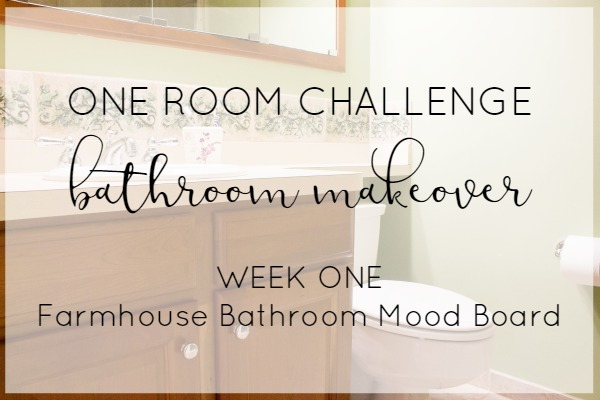 Farmhouse style bathroom design plans | One Room Challenge- week one