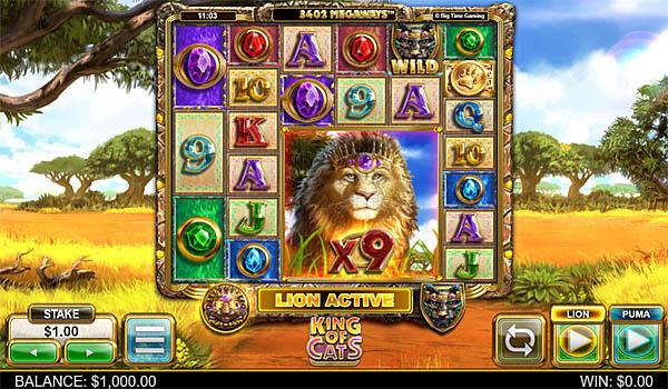 Main Gratis Slot Indonesia - King of Cats Megaways Big Time Gaming