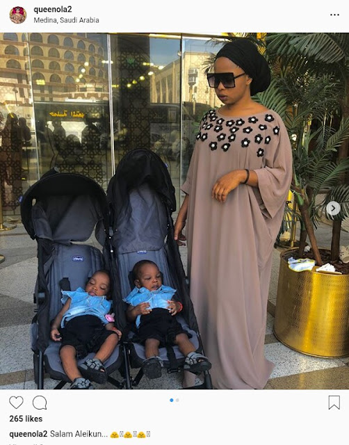 IMG 20180814 133524 121 - Alaafin of Oyo's young wives arrive Saudi Arabia with their sets of twins (Photos)