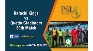 KRK vs QTG Dream11 Prediction: Quetta Gladiators vs Karachi Kings Best Dream11 Team for 30th T20 Match