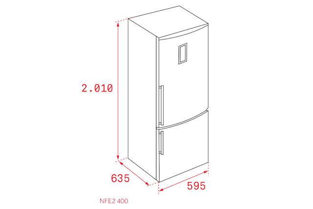 TỦ LẠNH TEKA NFE2-400 INOX