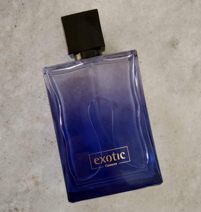 Exotic Comores da Davene, frasco retangular, cor azul