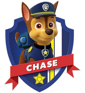 Imagen para imprimir gratis de Paw Patrol o Patrulla Canina de Chase.