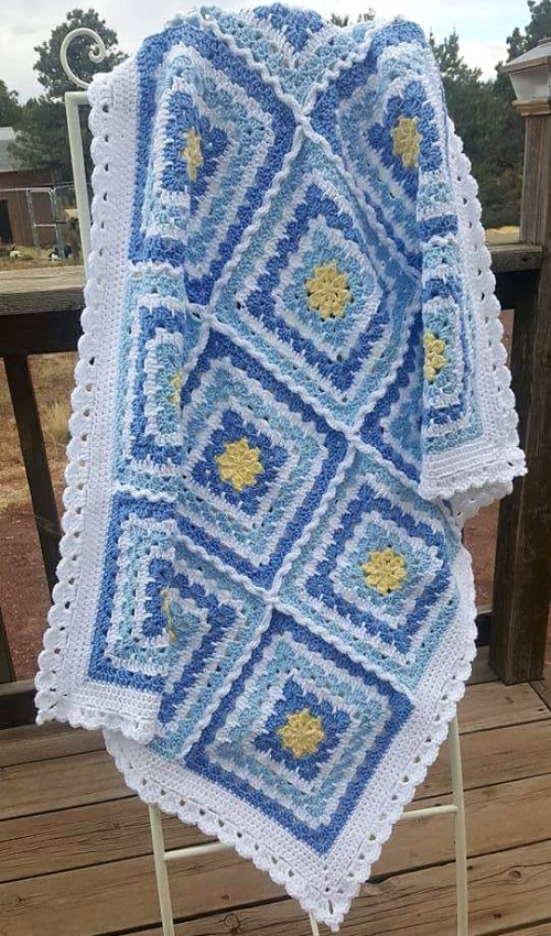 Mother's Heartbeat Baby Blanket - Crochet Pattern