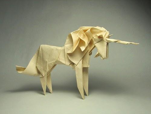The complex origami: running horse origami DIY graphic | 紙, 折り紙 | 378x500