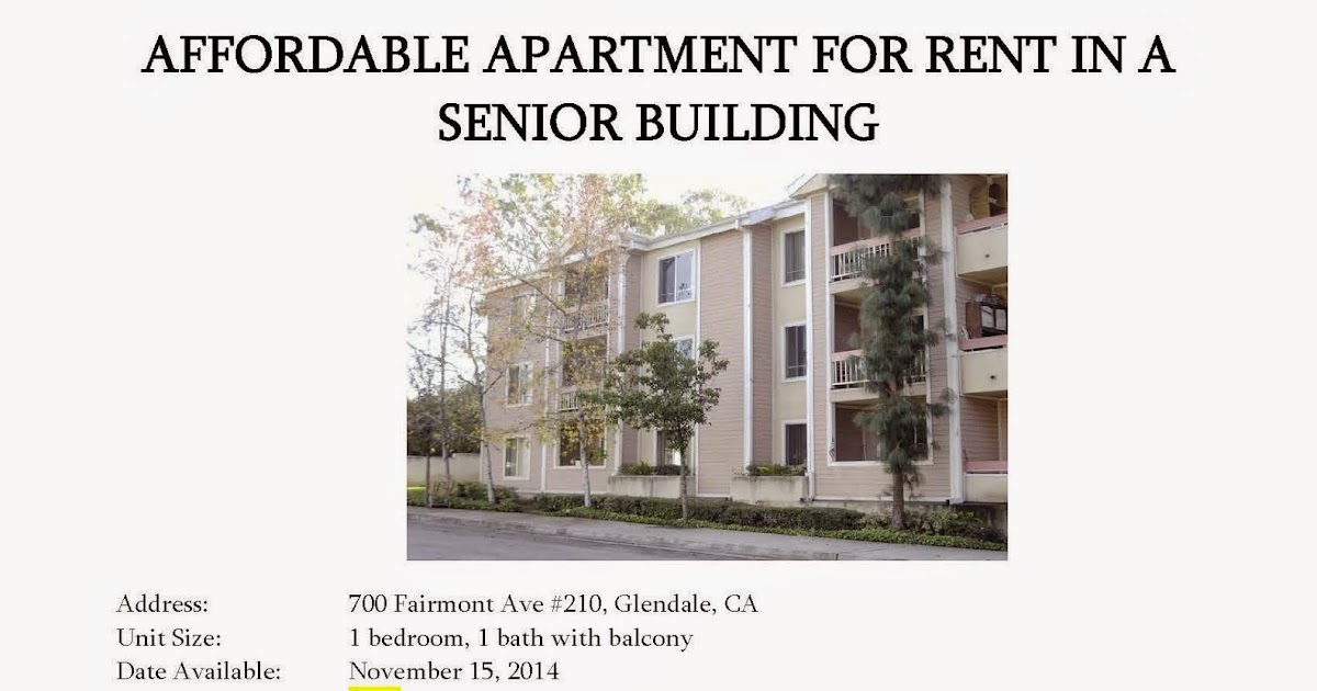 CDD Topics: Affordable 1-Bedroom Senior Apartment For Rent