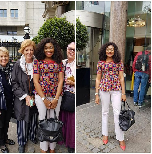 Australian Women Approach Nigerian Lady After Wearing This Attire In UK. Photos