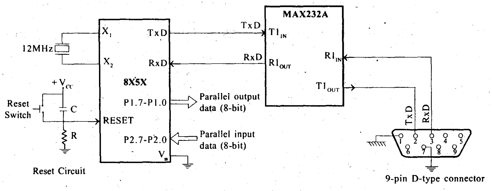 A Media To Get All Datas In Electrical Science Serial Parallel Converter Simple Schematic For Communication Using 8051 Is Shown