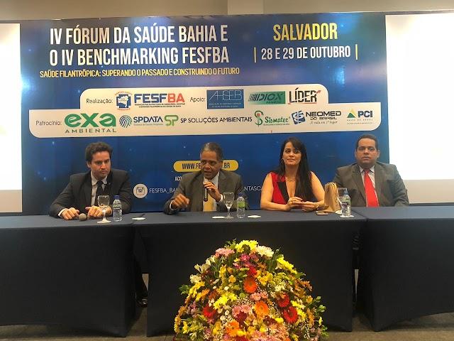 Começou nesta segunda-feira (28), em Salvador, o IV Fórum da Saúde Bahia e o IV Benchmarking da FESFBA.