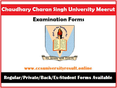CCS University Exam Form Online