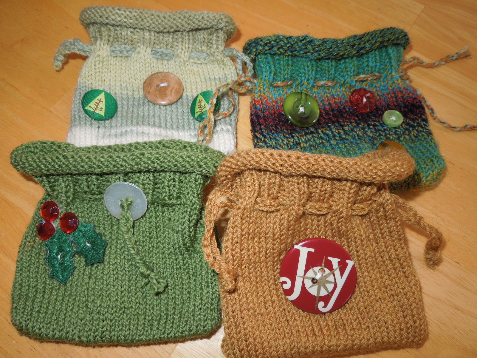 The Creative Skein Little Knitted Gift Bags