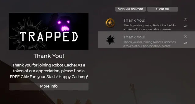 Trapped gratis dari RobotCache