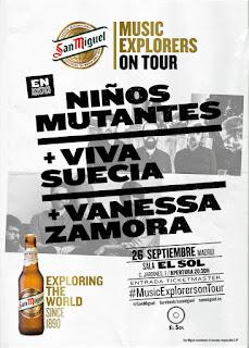 Niños Mutantes, Viva Suecia y Vanessa Zamora en acústico en la Sala el Sol (Madrid)