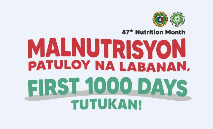 Nutrition Month 2021 theme, memorandum, talking points