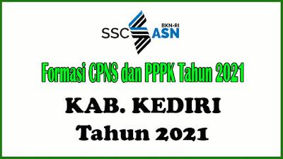 Alokasi Formasi CPNS dan PPPK KABUPATEN KEDIRI Tahun 2021