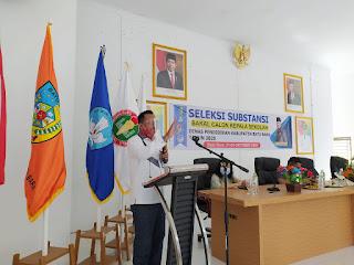 Mewakili Bupati, Kadisdik Batu Bara Buka Seleksi Substansi Bakal Calon Kepala Sekolah