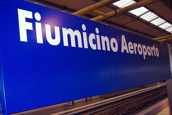 buenos días Roma - línea metropolitana FR1 tren aeropuerto Fiumicino