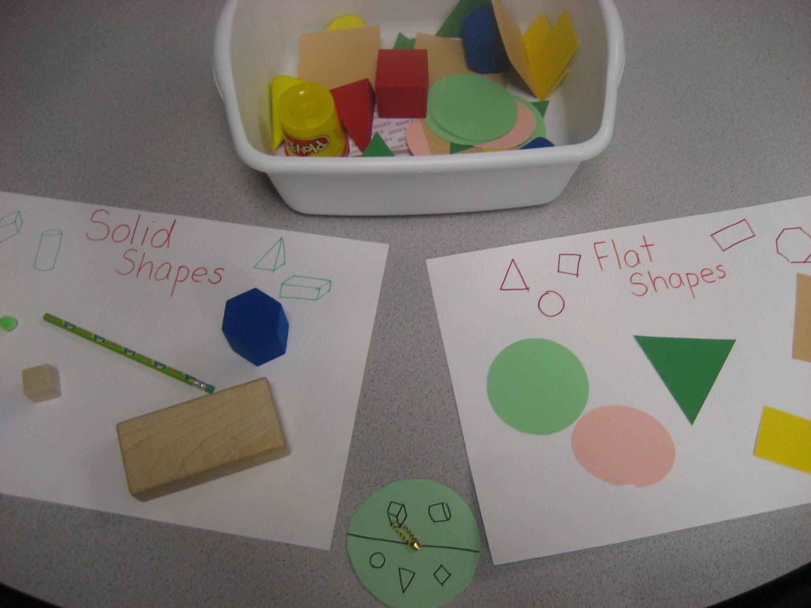 Kinder Doodles Learning Stations Solid Shapes Amp Initial