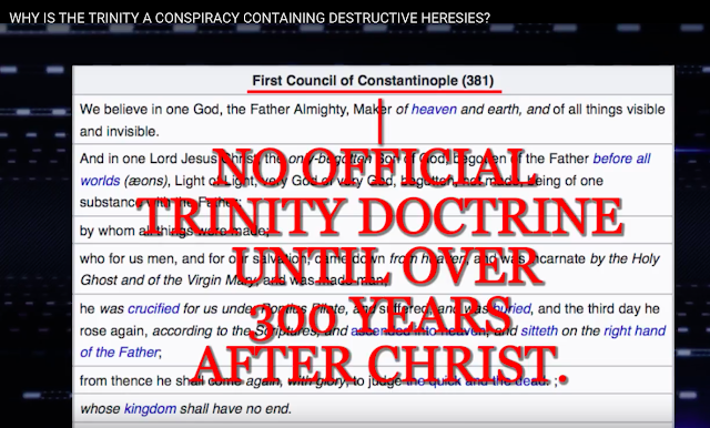 WHY IS THE TRINITY A CONSPIRACY CONTAINING DESTRUCTIVE HERESIES?