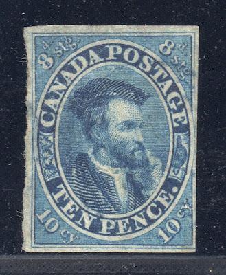 CANADA STAMP 7 — 10p CARTIER - 1855