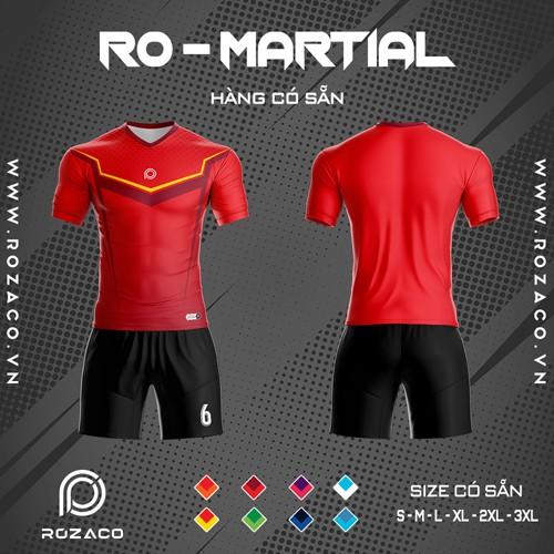 Áo Không Logo Rozaco RO-MARTIAL Màu Đỏ