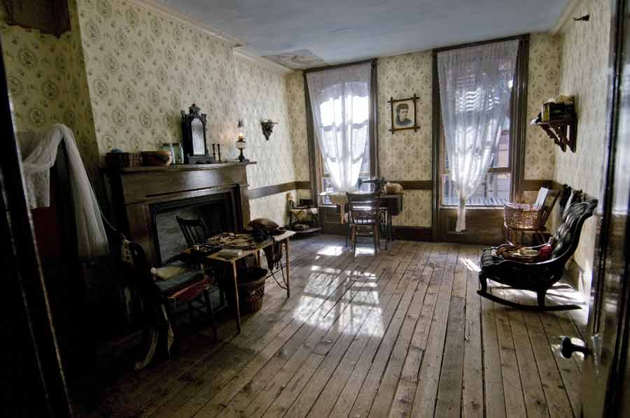 1900 living room tenement museum a room with a legally mandated 10969
