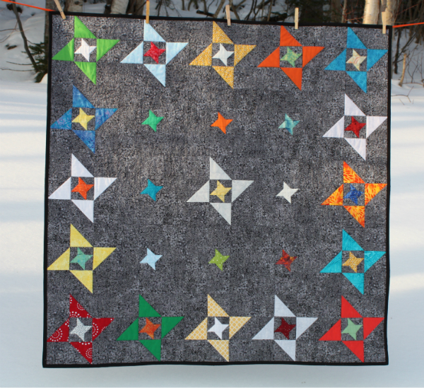 Devoted quilter isaac 39 s friendship galaxy quilt for Galaxy quilt fabric