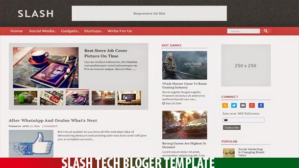 Slash Tech Free Premium Blogger Template - Responsive Blogger Template