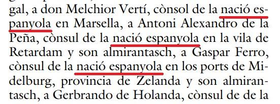nació espanyola, Marsella, Antoni Alexandro de la Peña, cònsul, Retardam, almirantasch, Gaspar Ferro, Midelburg, Zelanda, Gerbrando de Holanda,