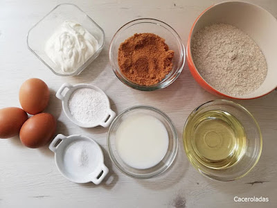 ingredientes para magdalenas integrales