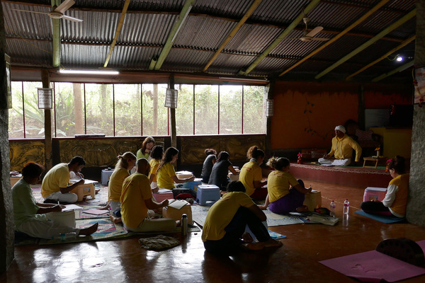 Students Learning TTC Yoga at Inteyoga Ashram Mysore India