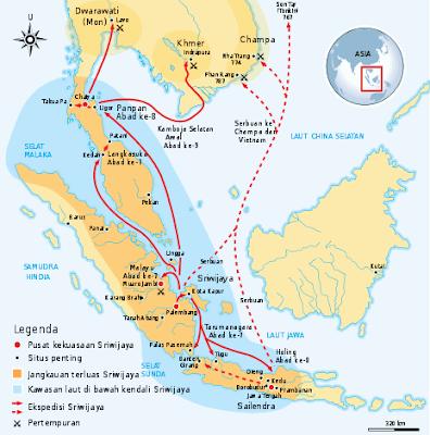 Letak Geografis dan Pusat Kerajaan Sriwijaya