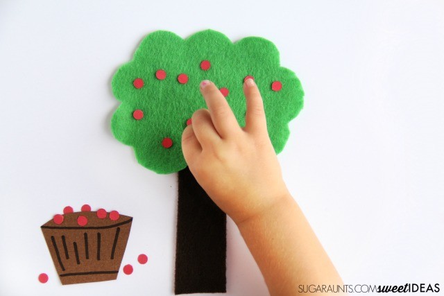 Kids will love this fine motor strengthening apple activity this fall.