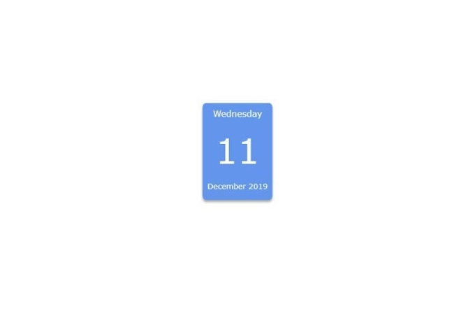 Simple Calendar with HTML, CSS and JavaScript