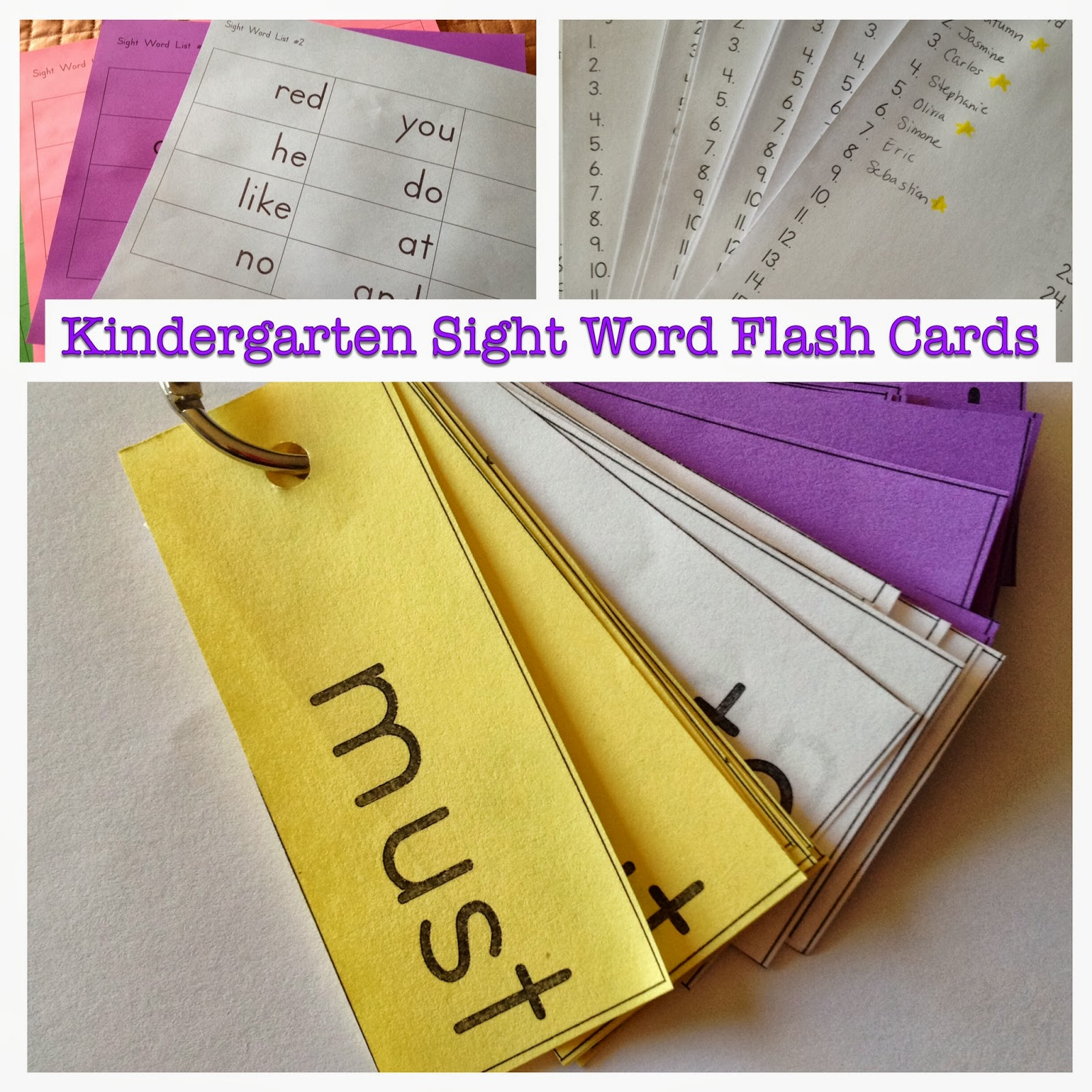 Kindergarten Is Crazy Fun Kindergarten Sight Word Flashcards
