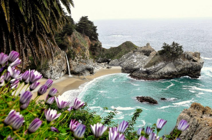 2. Julia Pfeiffer Burns State Park, Big Sur, California, USA - Top 10 Unusual Beaches