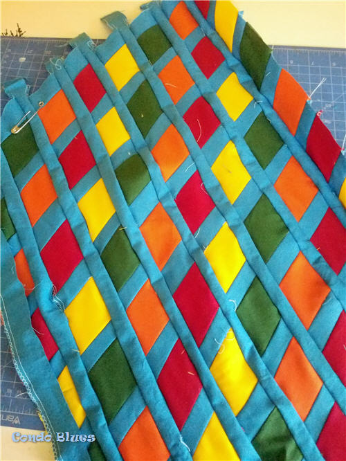 how to sea a diamond quilt pattern fabric
