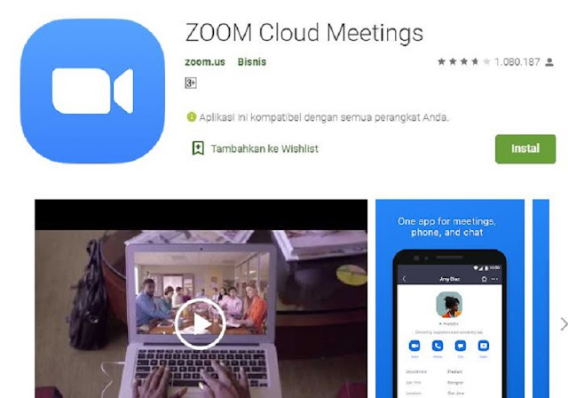 Cara Download Aplikasi Zoom di Playstore