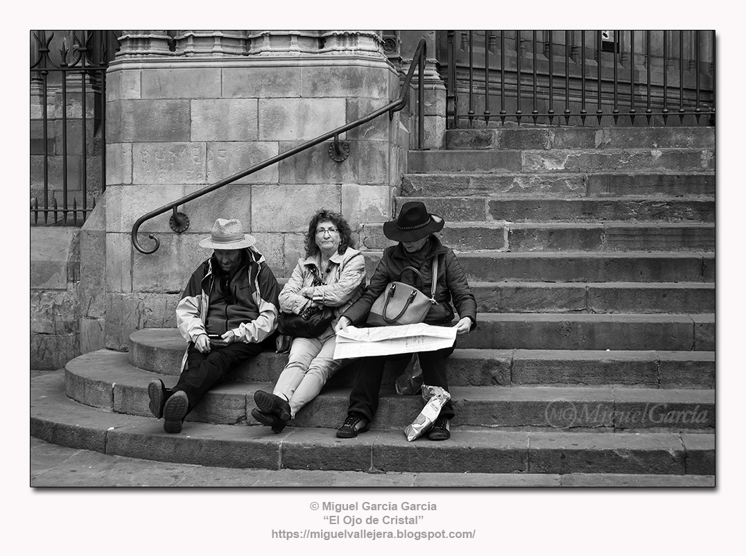 Barcelona.- Escalinata de la Catedral.