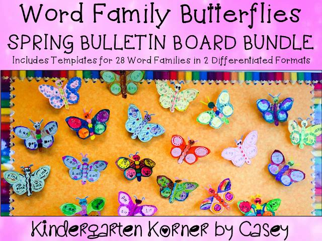 Butterfly Word Families Bulletin Board