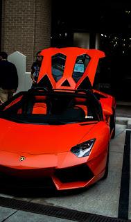 lanborghini aventador red luxury car