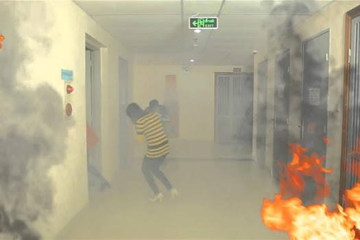 cách thoát hiểm khi hỏa hoạn tại nhà ống khu dân cư.