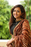 Lasya looks super cute in black choli Saree at Raja Meru Keka Press Meet ~  Exclusive 031.JPG