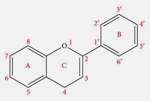 Struktur flavonoid dan penomorannya