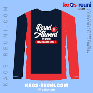 Reuni Alumni 2020 - Contoh Desain Sablon Kaos Reuni Raglan Kombinasi
