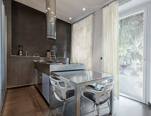 Modernas cocinas pequeñas - Colores en Casa