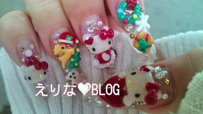 Christmas gyaru nail art inspiration via hellolizziebee